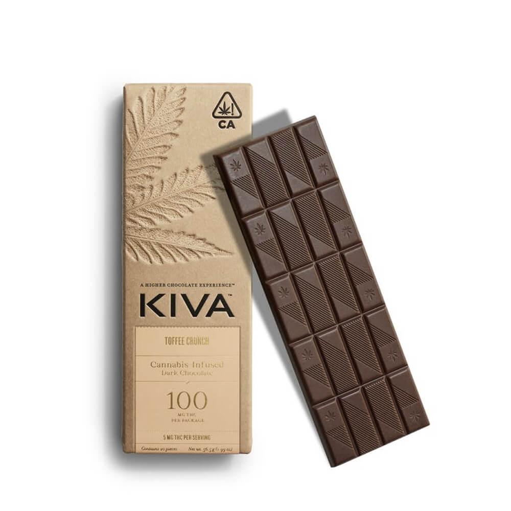 KIVA | DARK CHOC TOFFEE CRUNCH | 100MG